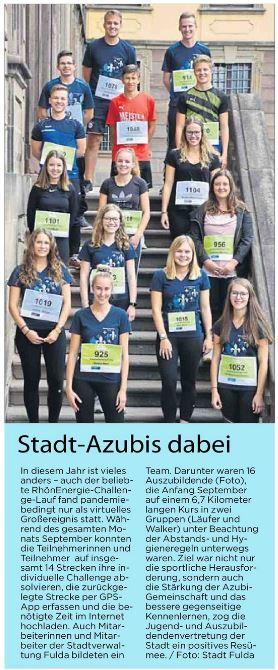 Auch die Azubis der Stadt Fulda gingen an den Start.